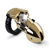 Buy Pubic Enemy No 1 Gold Edition Electrostim Male Chastity Cage - Mystim Cyrex Ltd Electrostimulation Estim ElectroErotic