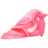 Buy Unicorn Tails Pastel Pink Silicone Butt Plug with Tail - NS Novelties