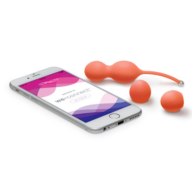 Buy Bloom 10-function App-controlled Rechargeable Vibrating Kegel Balls with Progressive Weights - We-Vibe Standard Innovations wevibe