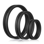 Buy the RingO Pro X3 Black Silicone Erection Enhancer Penis Ring Set - Screaming O