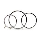 ElectraStim ElectraRings Solid Aluminum Scrotal Rings 3-pack