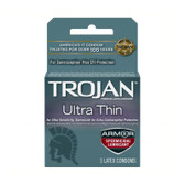 Buy the Sensitivity Ultra Thin Armor Spermicidal Lubricated Condoms 3 Pack - Paradise Marketing Trojan