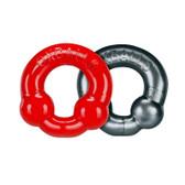Buy UltraBalls 2-piece Cock Ring Set Red/Steel Grey - OxBalls