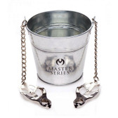 Buy the Slave Bucket Labia & Nipple Clamps with Metal Pail - XR Brands Master Series