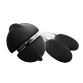 Buy the Union Girl/Girl 360 Swivel Silicone Vibrator Black Chrome - NS Novelties Shi/Shi