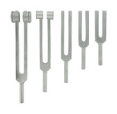 Master Series 5 Piece Aluminum Tuning Fork Set