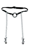 Fetish Fantasy Series Limited Edition O-Ring Gag with Nipple Clamps