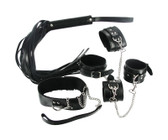 Strict Leather Black Leather Bondage Kit