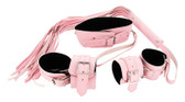 Strict Leather Pink Leather Bondage Set