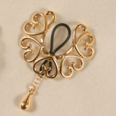 Sylvie Monthule Women's Gold Non-Piercing Nipple Rings Wreath of Hearts