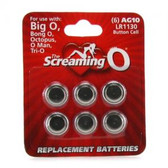 Screaming O AG10 Replacement Batteries 6 Pack