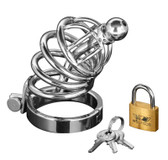 Master Series Asylum 4 Ring Locking Chastity Cage