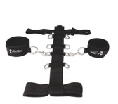 Lux Fetish 3-Piece Adjustable Neck & Wrist Restraint Set