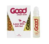 Good Clean Love Oils Rollerball Gift Set Sampler 3-Pack