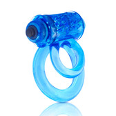 Screaming O DoubleO 6 Vibrating Love Ring Erection Enhancer & Testicle Support Blue