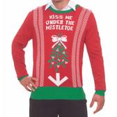 Forum Novelties Christmas Sweater Kiss Me Under the Mistletoe L/XL