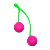 Buy the Charming Cherries Silicone Kegel Exerciser with Rolling Weights - XR Brands Frisky