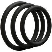 OptiMALE Thin 3 C-Ring Set Silicone Black
