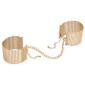 Bijoux Indiscrets Desir Metallique Gold Mesh Handcuffs