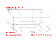 AT87RTF - DOT Legal Transfer Tank   PN# AT87RTF. 87 gallon DOT legal aluminum rectangular transfer fuel tank. Legal for use with Diesel, Gasoline, Ethanol, Methanol and Aviation Fuel. Made by Aluminum Tank & Tank Accessories, Inc.