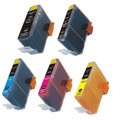Compatible Black, Photo Black, Cyan, Magenta and Yellow Ink for select HP PhotoSmart printers