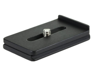 2 1/2 Inch Lens Plate. The lip prevents the lens from possible twisting and rotating while mounted on your tripod head.