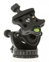 GP Ballhead shown with the standard knob clamp. All GP series heads function as a ball head, hybrid gimbal head and when inverted will allow you to easily create a single row panorama.