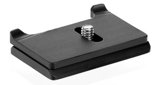 Canon T6i camera specific arca compatible plate.  The 2 prongs on the back creates a secure and stable base for your tripod head with an Arca style clamp.