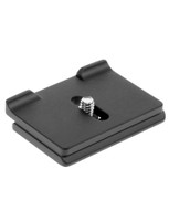 Camera specific quick release plate. The prongs are designed to prevent your camera from twisting while it's mounted on your tripod head.