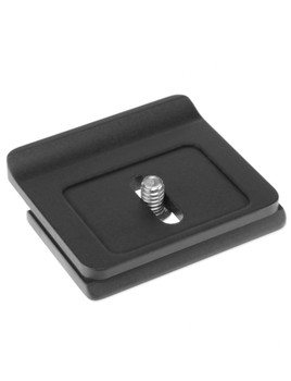 Camera specific quick release plate. This plate is designed to prevent unnecessary twisting while your camera is mounted on your tripod head.