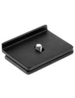 Camera specific plate for Canon D30, D60. This plate is designed to prevent twisting while your camera is mounted on your tripod head.