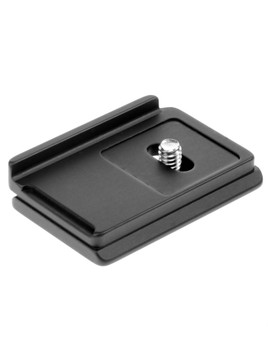 Camera specific quick release plate. This plate is designed to prevent unnecessary rotation while your camera is mounted on your tripod head.