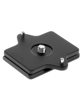 Camera specific, Arca-Swiss compatible, quick release plate. This custom plate is designed to prevent your camera from twisting while it's mounted on your tripod head.