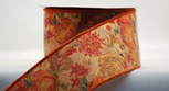 Fall Tapestry Ribbon, 2-1/2 inch wired, 10 yards