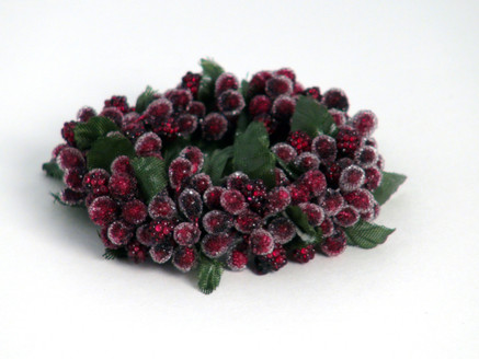 Burgundy Rice Berry Candle Ring