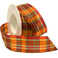 Wired Dundee Plaid ,1.5 inches wide, 22 yards
