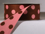 1-1/2 inch reverse dots in dark chocolate with raspberry cream