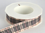 Blackberry Plaid Ribbon , 3 widths, 20 yards per roll, 1 1/2 inch width has 25 yards
