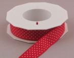 Red Swiss Mini Dots Ribbon, 7/8 inch width