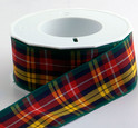 Authentic Clan Buchanan Tartan Plaid Ribbon , 25 yards, choice of 5 widths