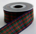 Holiday Tartan Plaid Ribbon-Authentic Clan MacDonald Ribbon | 25 yards | choice of 4 widths