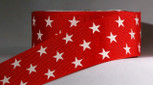 1-1/2 inch width red with white stars