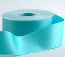 1-1/2 inch width Swiss Double Faced Satin Ribbon in Tiara blue