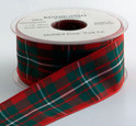 Authentic Clan MacGregor Tartan Plaid Ribbon, 25 yards, choice of 5 widths