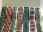 School Plaid  Ribbon | 3 Widths | 20 Yards |8 Colors