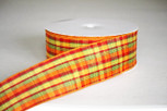 Cider Plaid Ribbon | 2.5 Inches Wide | 10 Yards