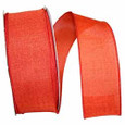 Wired Rust Linen Ribbon | 2 widths | 50 yards