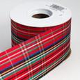 Metallic Plaid Ribbon   21/2 inches wide    25 yards