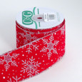 Wired Snowflake on Velvet Ribbon |  2 1/2 inches wide | 10 yards