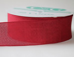 Burgandy  Linen Ribbon